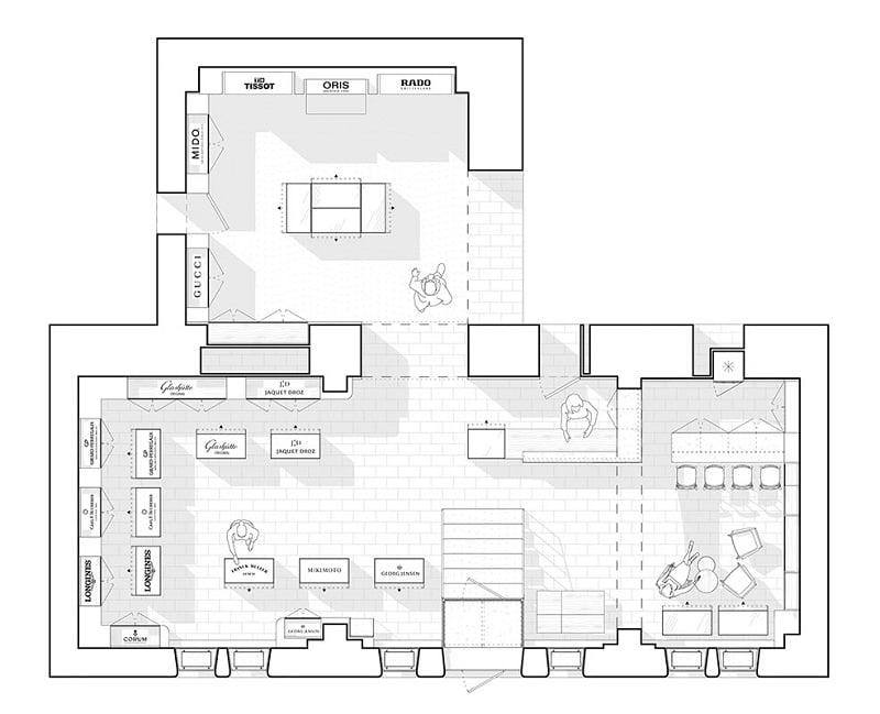 cách bố trí sắp xếp nội thất showroom