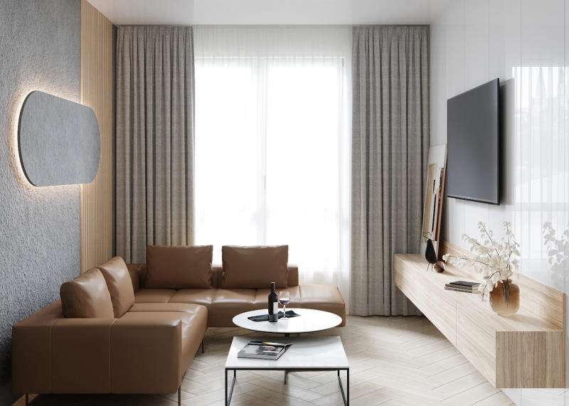 Mẫu thiết kế phòng khách riêng biệt