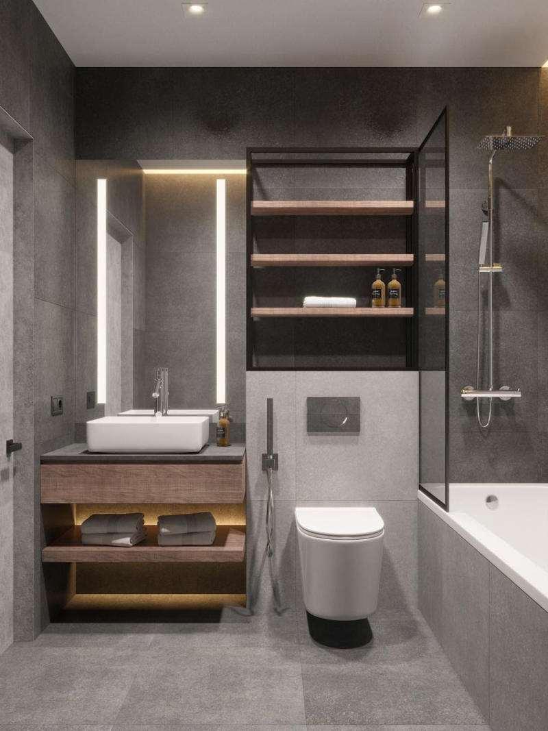 nhà vệ sinh có bồn tắm nằm