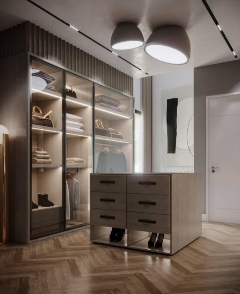 thiết kế phòng thay quần áo