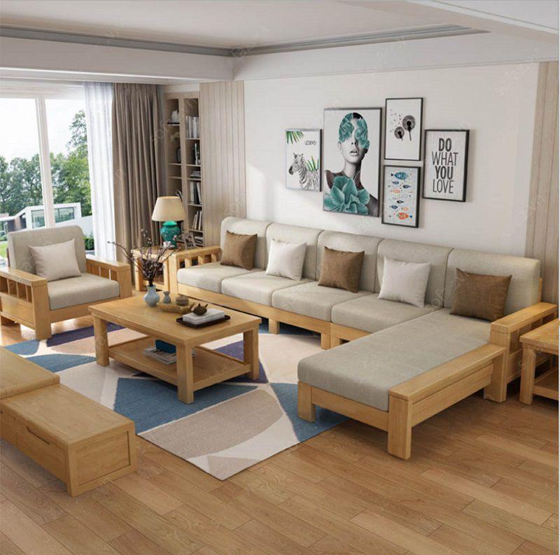 bàn ghế bằng gỗ phòng khách