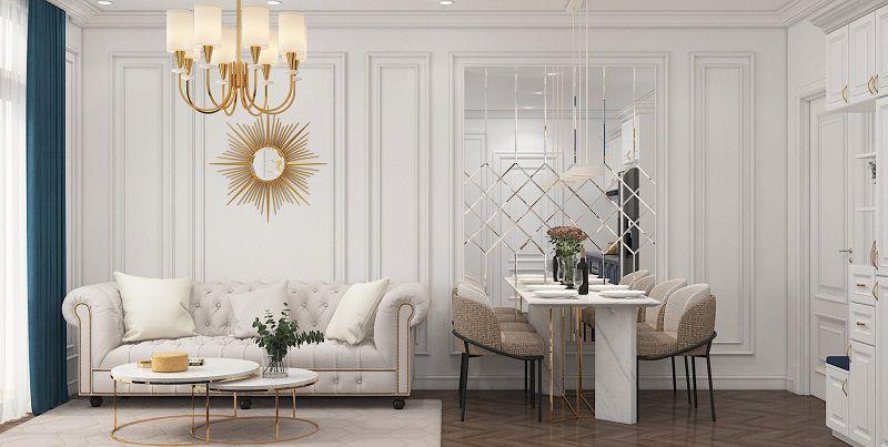 bộ bàn ghế phòng khách tân cổ điển