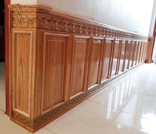 vách gỗ ốp tường