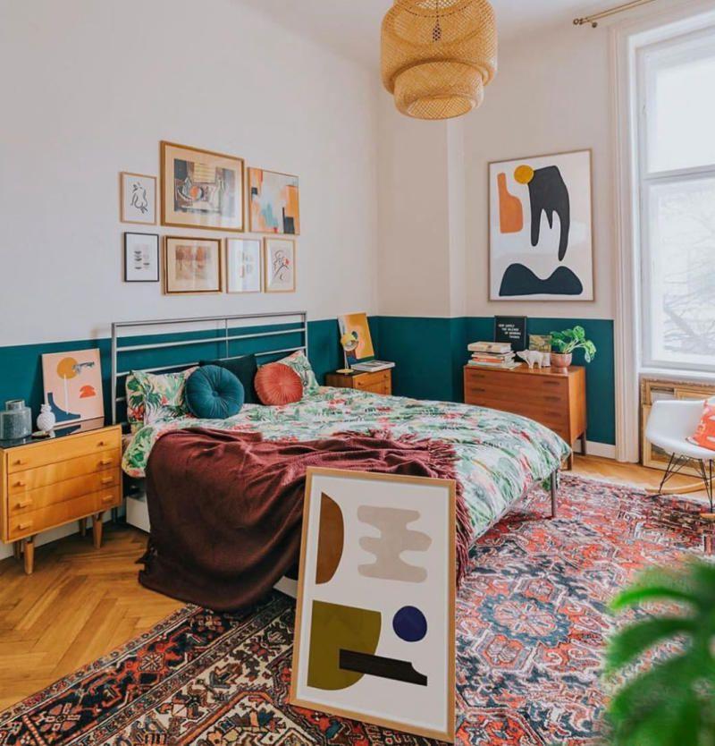 phòng ngủ phong cách boho