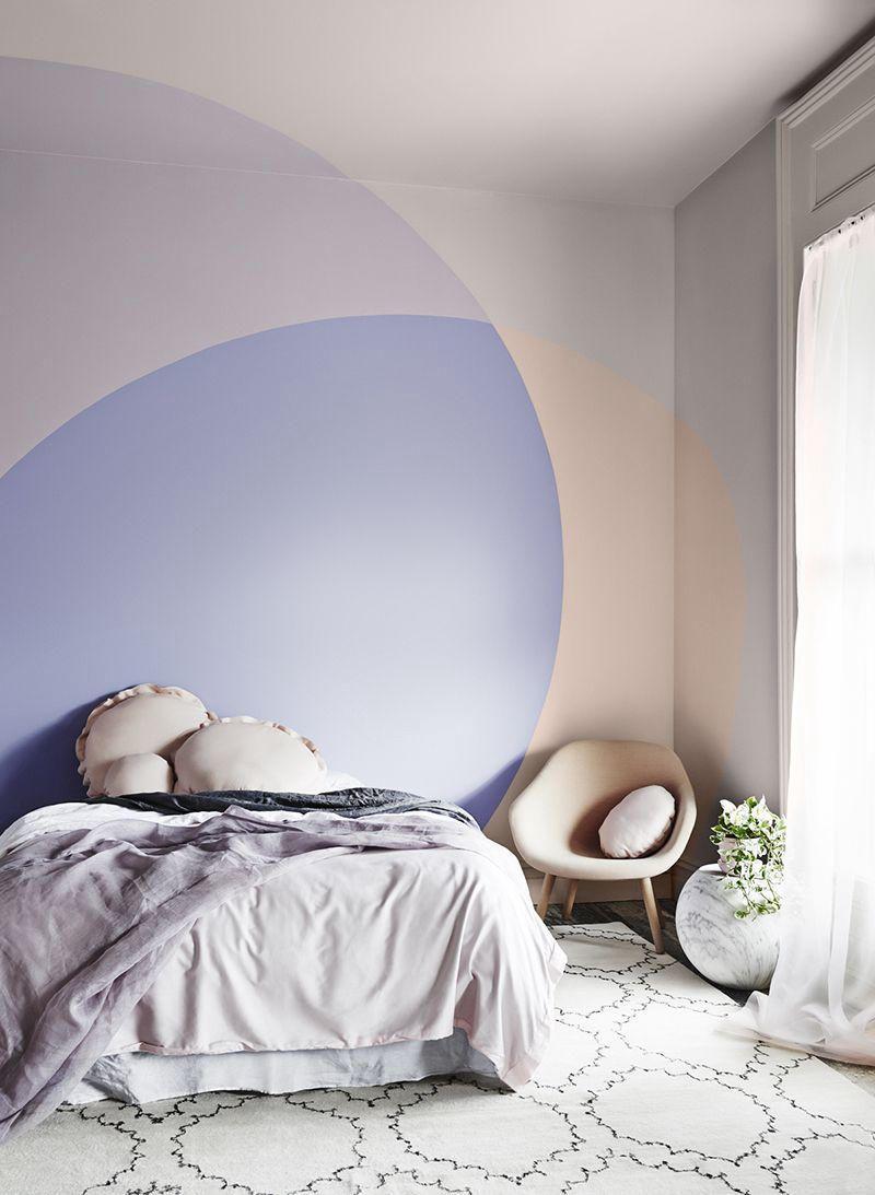 phòng ngủ phong cách color block