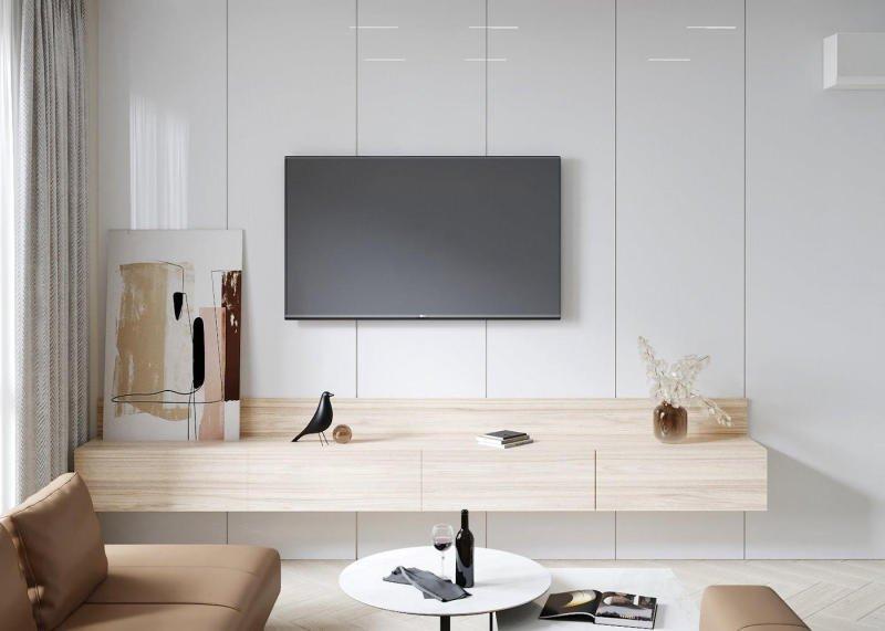 thiết kế kệ tivi phòng khách chung cư
