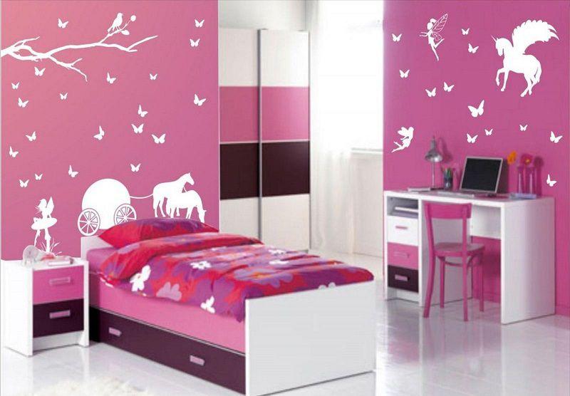 phòng ngủ màu hồng đậm