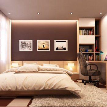 Phòng ngủ tông màu nâu