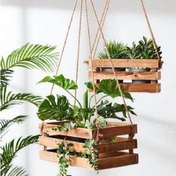 kệ gỗ để cây cảnh