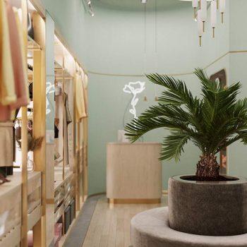 mẫu thiết kế cửa hàng thời trang và đồ lót nữ