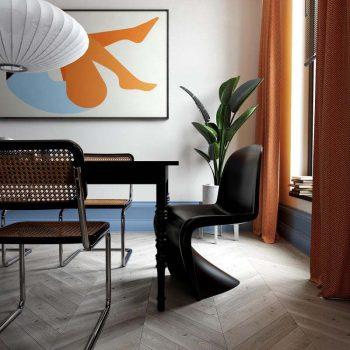 Mẫu thiết kế nội thất phong cách color block