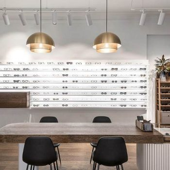 mẫu thiết kế showroom mắt kính