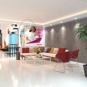mẫu thiết kế showroom sơn