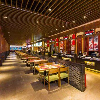 thiết kế nội thất nhà hàng tự phục vụ