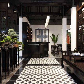 thiết kế nội thất nhà hàng theo phong cách đông dương