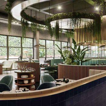 thiết kế nội thất nhà hàng theo phong cách nội thất xanh