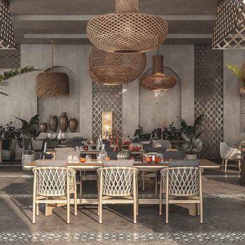thiết kế nội thất nhà hàng theo phong cách rustic