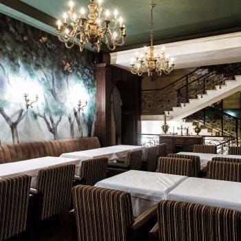 thiết kế nội thất nhà hàng theo phong cách tân cổ điển