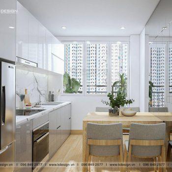 phòng bếp chung cư 552