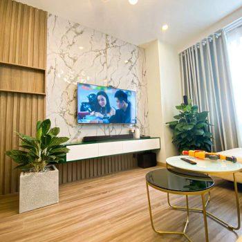 phòng khách và bếp căn hộ topaz elite quận 8