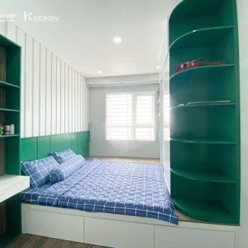 phòng ngủ bố mẹ căn hộ topaz elite quận 8