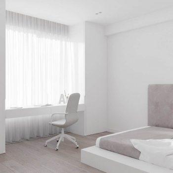 phòng ngủ vợ chồng theo phong cách tối giản