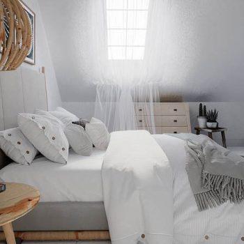 mẫu phòng ngủ vợ chồng theo phong cách bắc âu