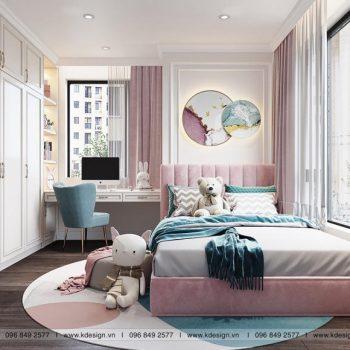 phòng ngủ kid căn hộ paris