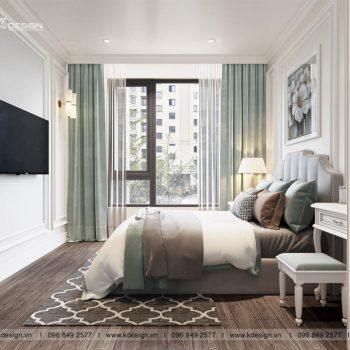phòng ngủ master căn hộ paris