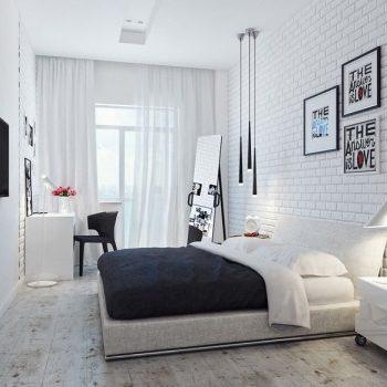 phòng ngủ màu trắng hiện đại