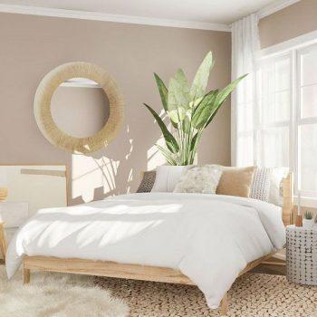 phòng ngủ màu trắng nhẹ nhàng