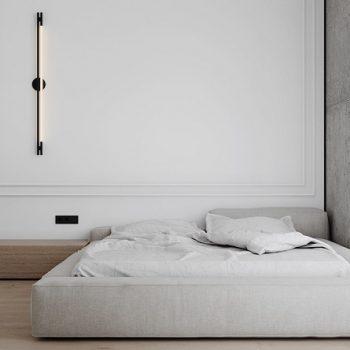 phòng ngủ màu trắng phong cách tối giản