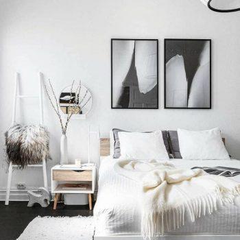 phòng ngủ màu trắng sửa
