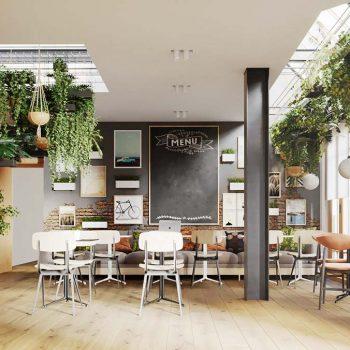 quán cà phê theo phong cách scandinavian