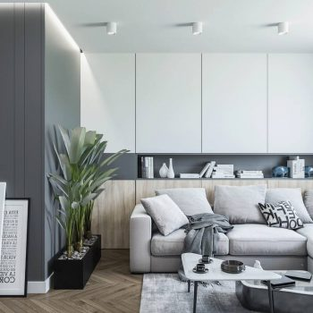 thiết kế nội thất phòng khách chung cư bắc âu