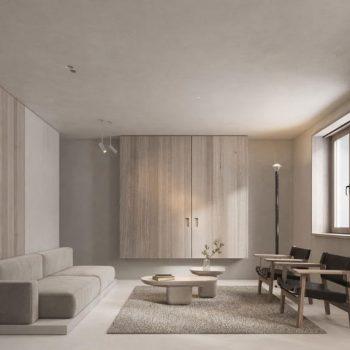 thiết kế nội thất phòng khách chung cư nhật bản