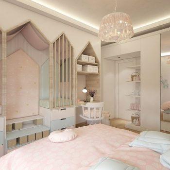 thiết kế nội thất phòng ngủ trẻ em