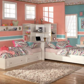 thiết kế phòng ngủ đôi cho chị em gái