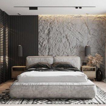 vách gỗ ốp tường phòng ngủ